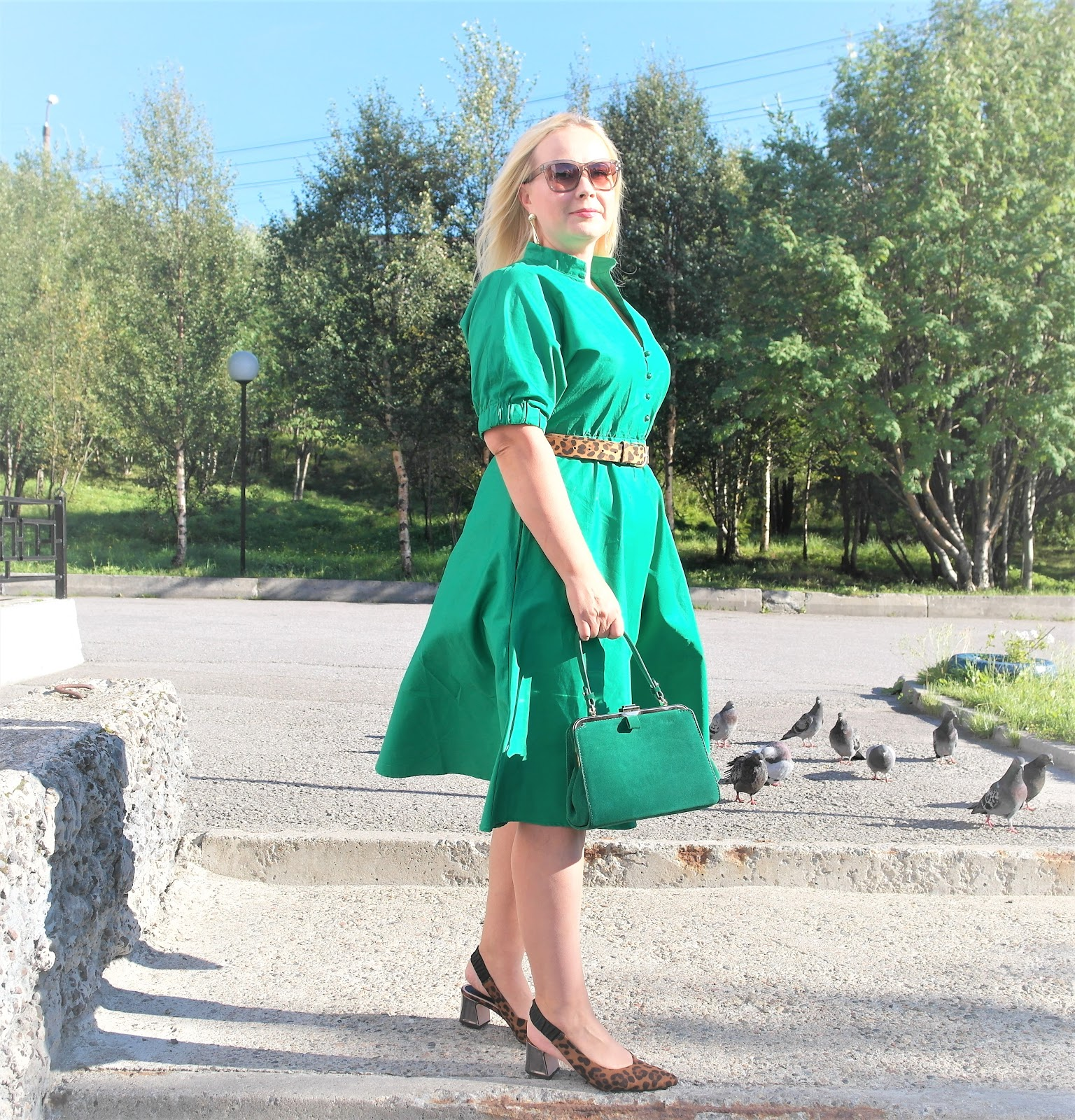 7b9f6059c248 OOTD:зеленое платье....