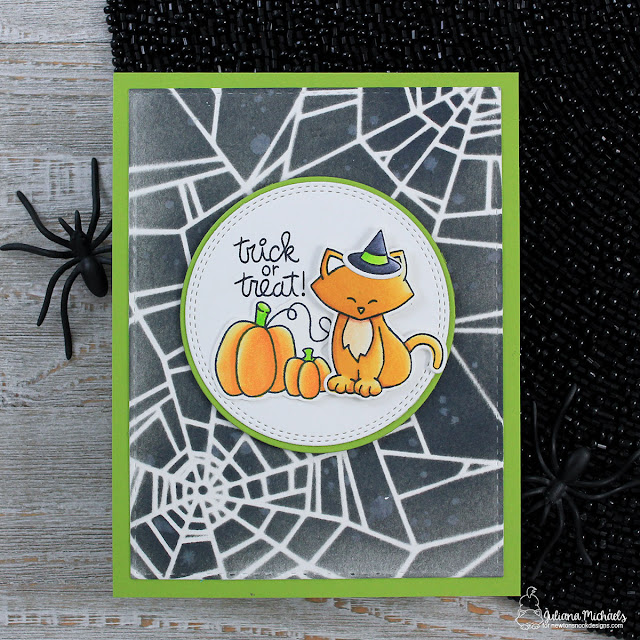Trick or Treat Halloween Card by Juliana Michaels featuring Newton's Nook Designs Newton's Costume Party Stamp Set and Fall-ing For You Stamp Set