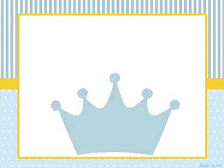Para hacer Invitaciones, Tarjetas o Marcos para Imprimir Gratis de Corona Celeste.