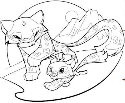 animal jam coloring pages - desert animals coloring fox