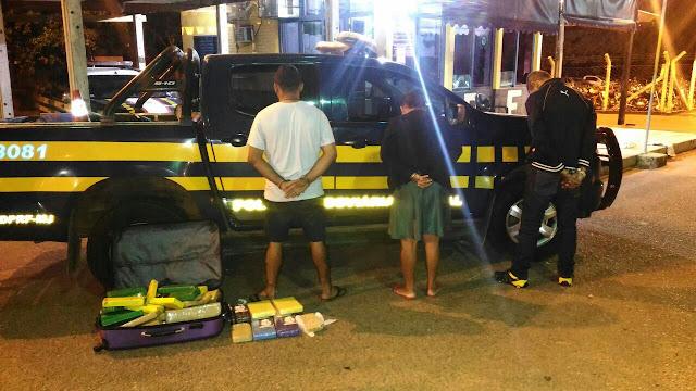 PRF apreende 50 kg de drogas que eram transportados em ônibus de Goiânia para Santa Inês-MA