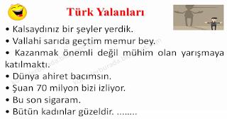 Türk Yalanları - Karışık Fıkralar - Komikler Burada