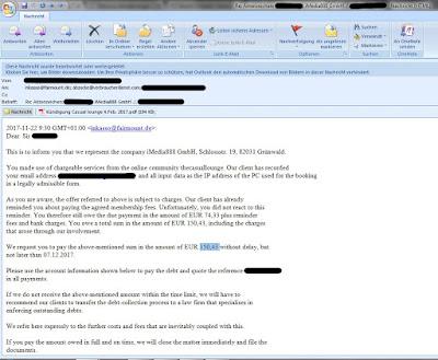Fairmount GmbH Mail | Forderung für iMedia888 GmbH