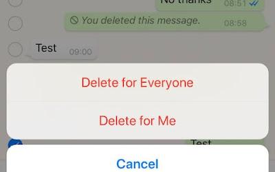 Padam Mesej yang Tersilap Hantar Pada WhatsApp