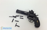 Mini revolver toy guns that work like real