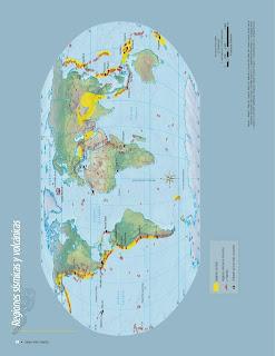 Apoyo Primaria Atlas de Geografía del Mundo 5to. Grado Capítulo 2 Lección 1 Regiones Sísmicas y Volcánicas