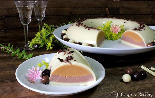 Flotatina de vainilla y dulce de leche. Julia y sus recetas