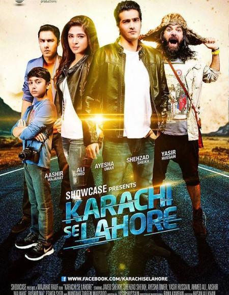 Poster Of Karachi Se Lahore 2015 720p Urdu DVDRip Full Movie Download Free