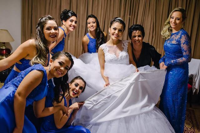 casamento real, casamento real Rafaela e Lucas, dia da noiva, making of, madrinhas, azul