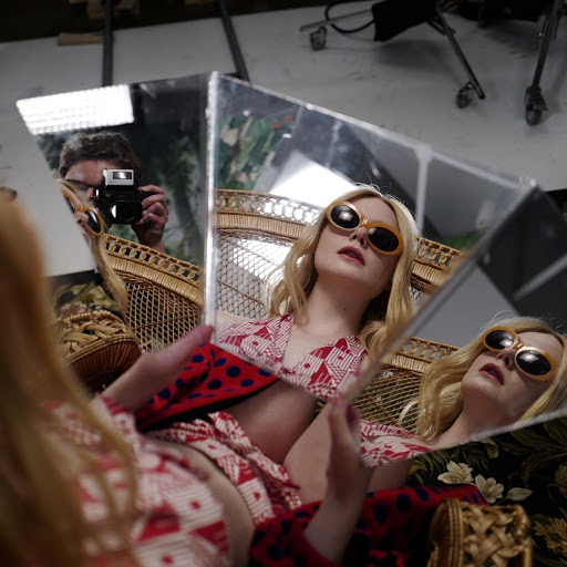 Elle Fanning fashion model photoshoot for Vogue Magazine June 2017 cover issue
