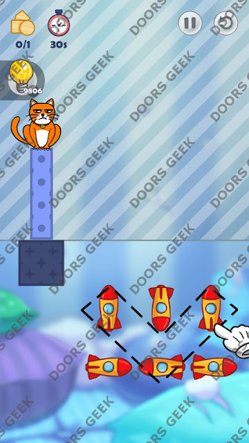 Hello Cats Level 126 Solution, Cheats, Walkthrough 3 Stars for Android and iOS