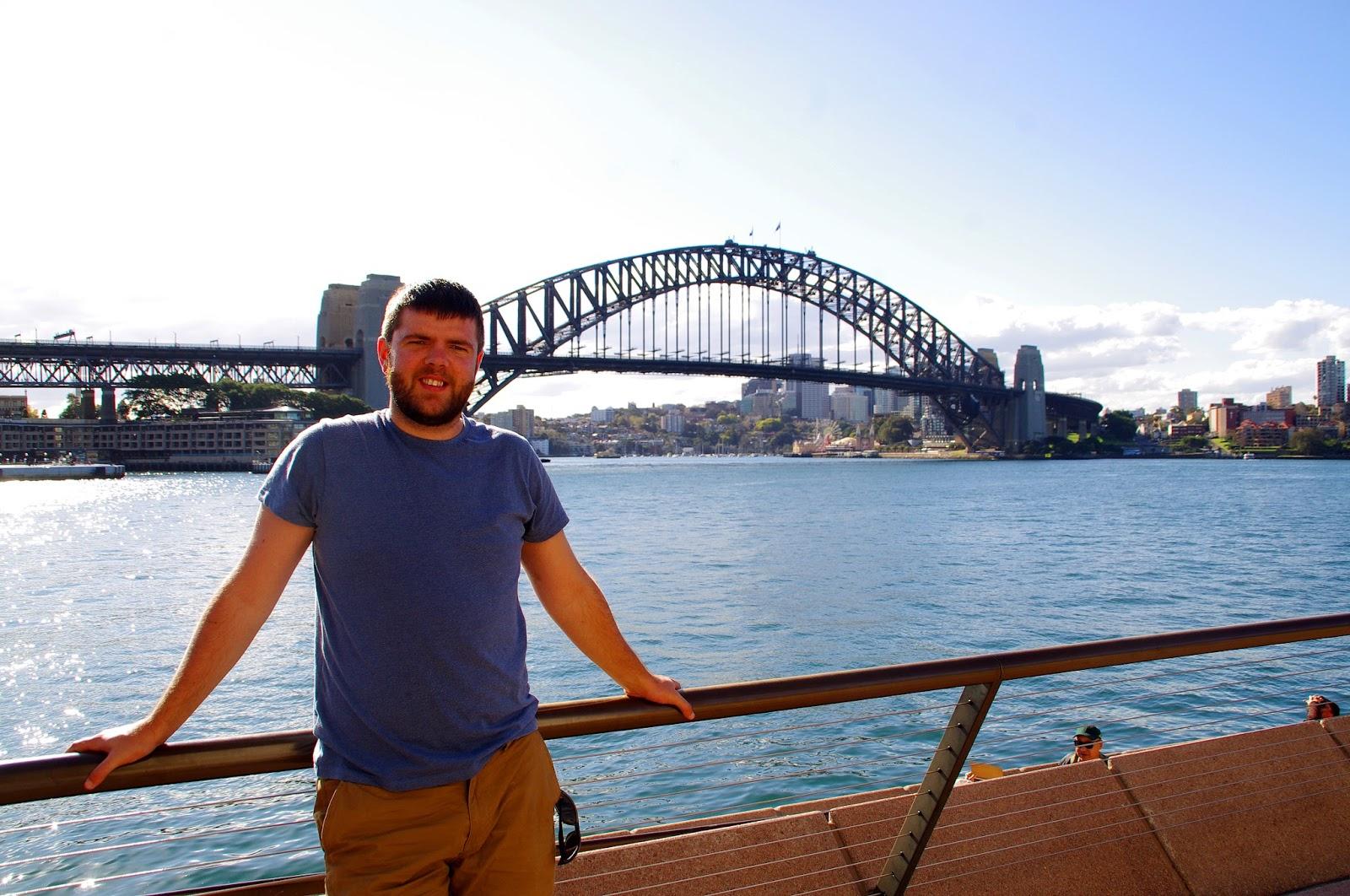 Dan with Sydney harbour bridge in the background