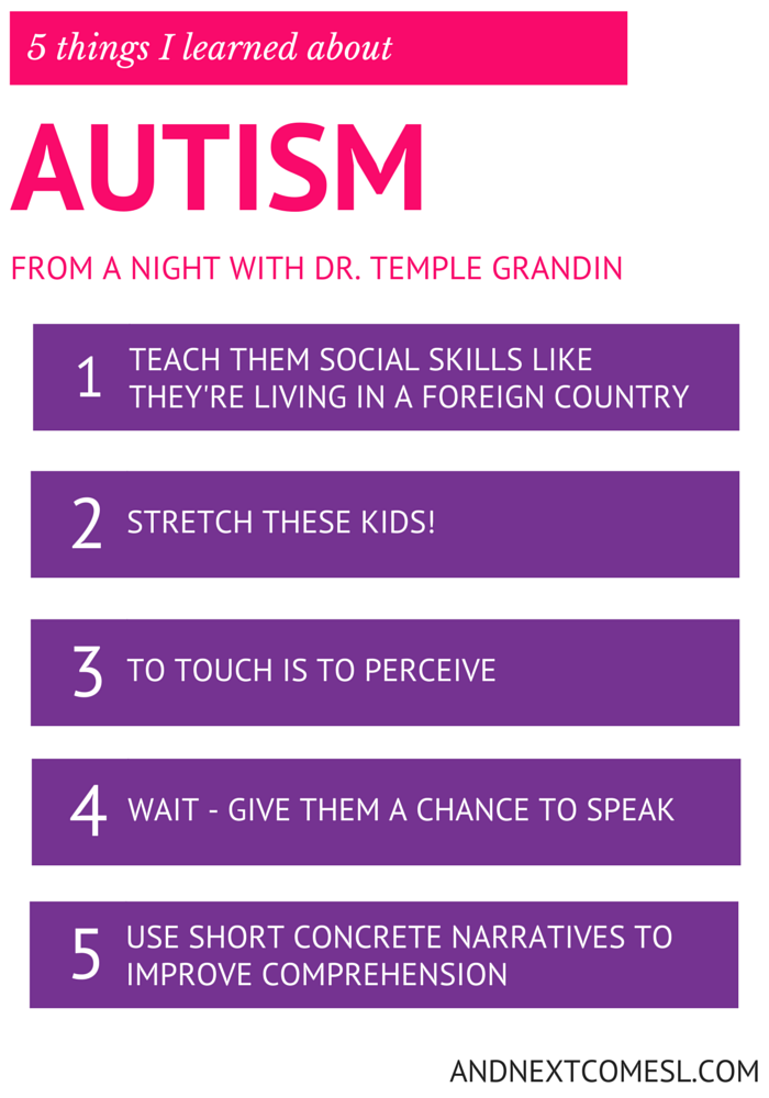 5 things I learned about autism from Temple Grandin
