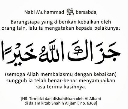 Cara Menjawab Ucapan Jazakallah Dan Syukron Risalah Islam