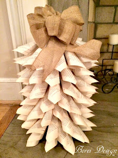 how-to-make-book-page-christmas-tree-tutorial-crafts-diy-home-decor-reycled