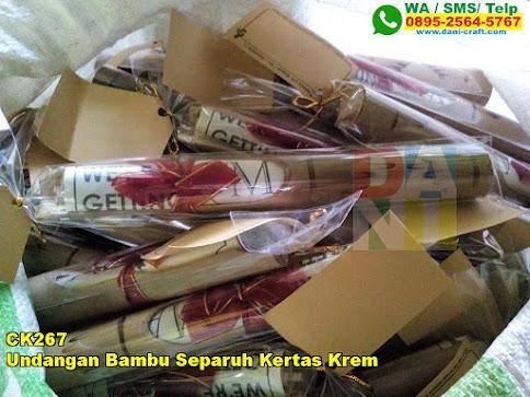 Harga Undangan Bambu Separuh Kertas Krem