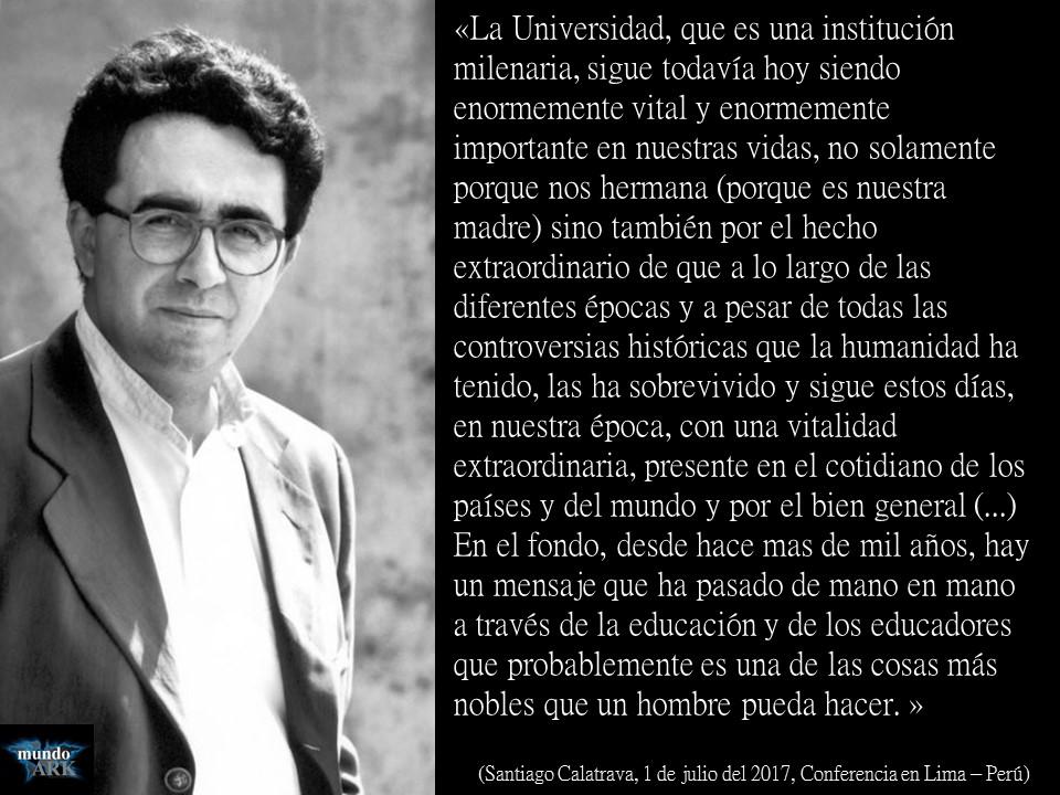 santiago calatrava de julio del conferencia en lima u per