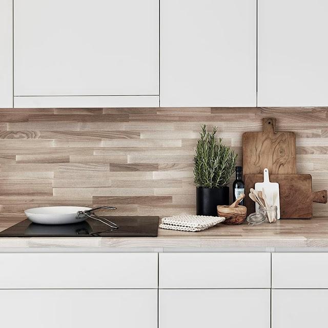 Frontal madera para la cocina