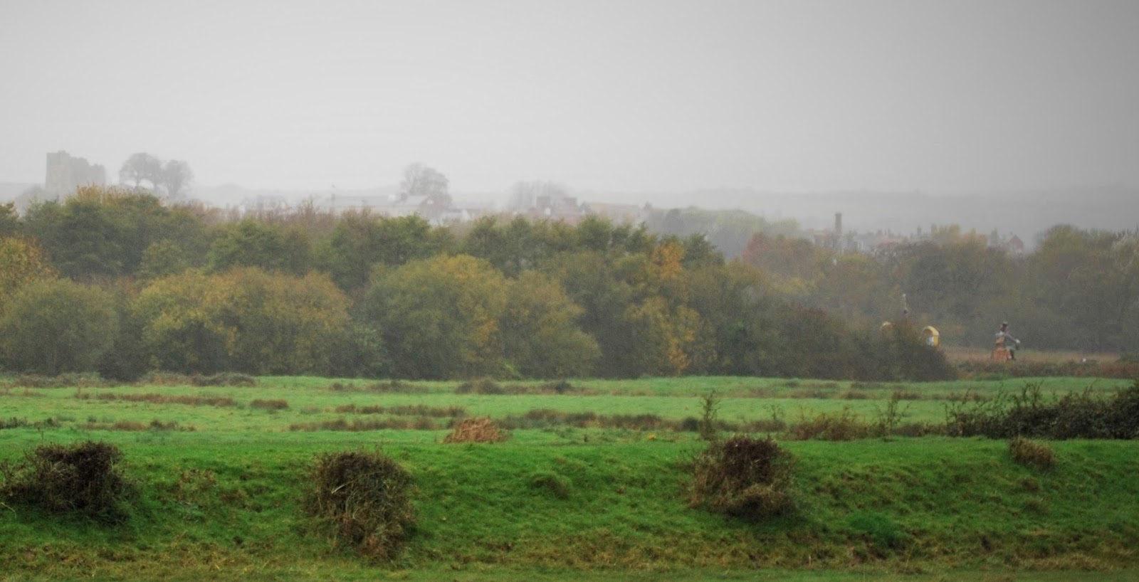 Lewes Castle in the distance