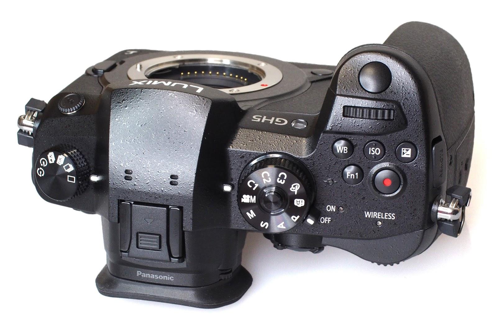 Верхние элементы управления Panasonic Lumix GH5