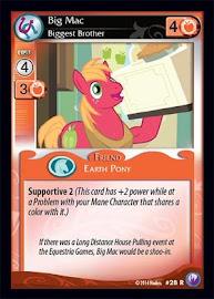 My Little Pony Big Mac, Biggest Brother Canterlot Nights CCG Card