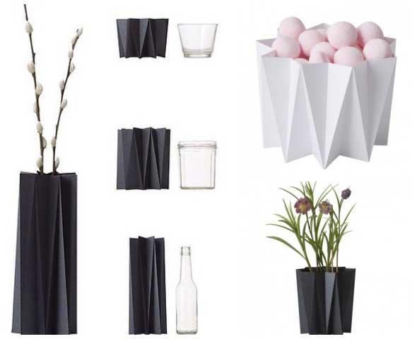 florero, jarrones, decoracion, papel, origami, manualidades