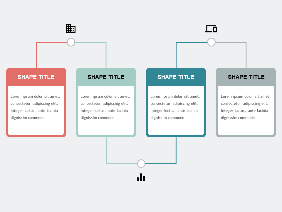 Horizontal Linked Process PowerPoint Templates 2