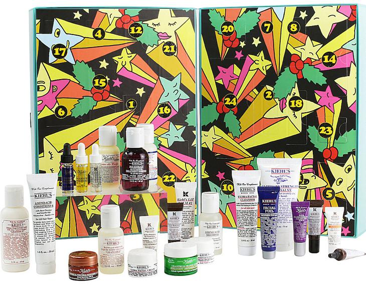 Kiehl's Season's Givings Advent Calendar for Holiday 2016 contains 24 beauty products.