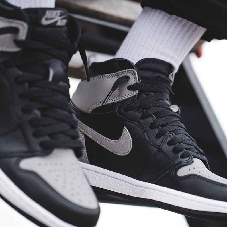 12c921ffd32 Air Jordan 1 'Shadow' Grey 2018 On Feet Mens GS Outfit Shoes 555088-013 -  www.anpkick.com