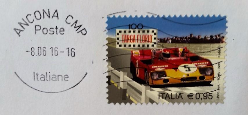 francobollo del 2016 dedicato alla centesima edizione della Targa Florio