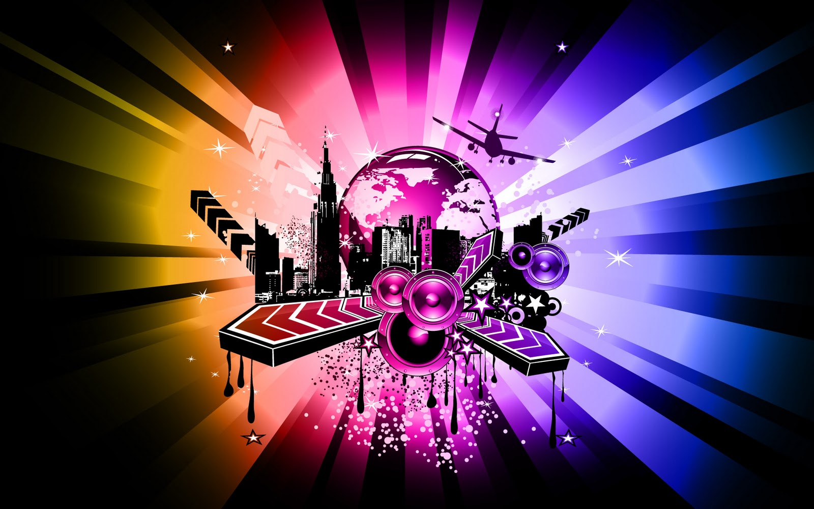 Teen tainment colorful victor art music wallpapers - Wallpaper artist music ...
