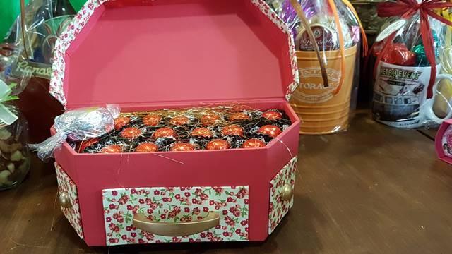 Caixa de bombons reaproveitável