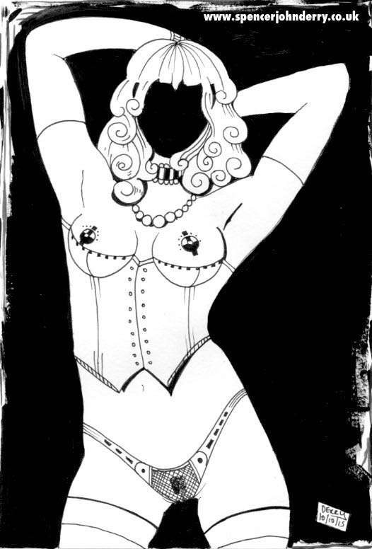 The Woman Without A Face • Surreal Erotic Art Drawing