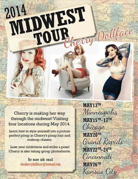 Cherry Dollface Pinup Hair and Makeup Tour - Tuesday May 13, 2013 | Minneapolis and St. Paul Pinup Photography Studio