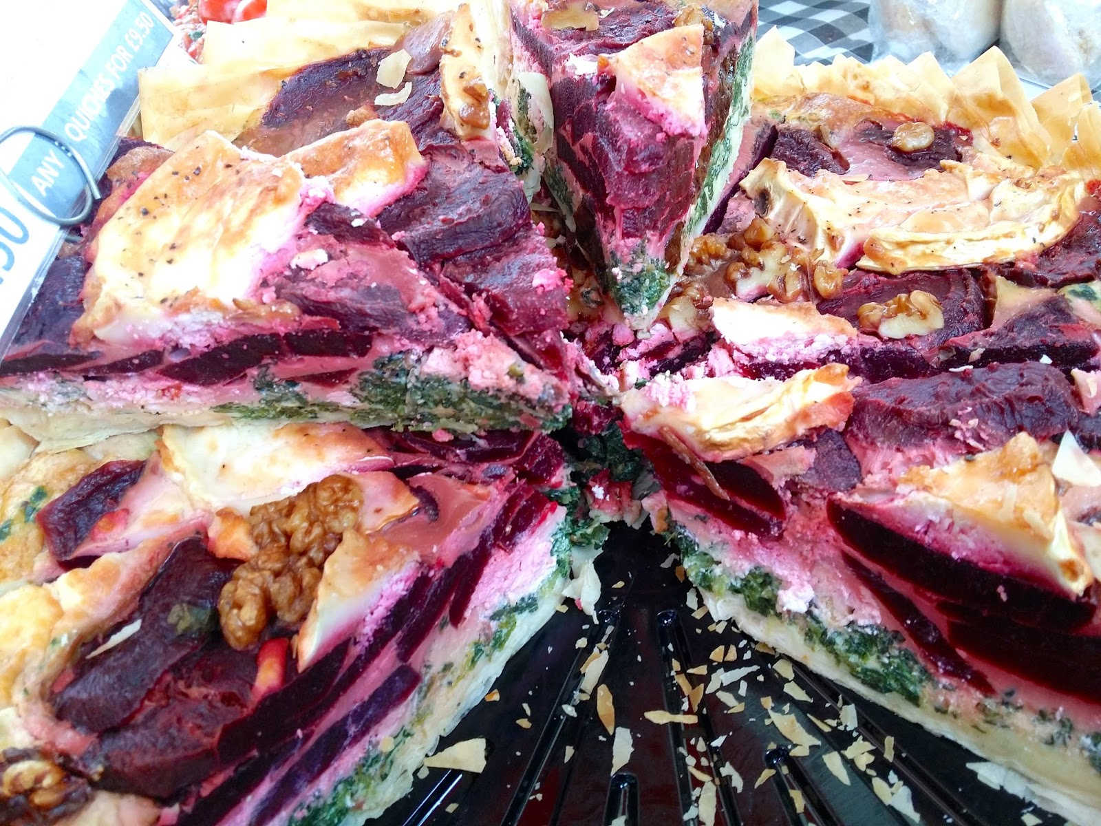 Beetroot & Spinach Pie