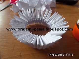 kielich komunijny, origami modułowe, msza,