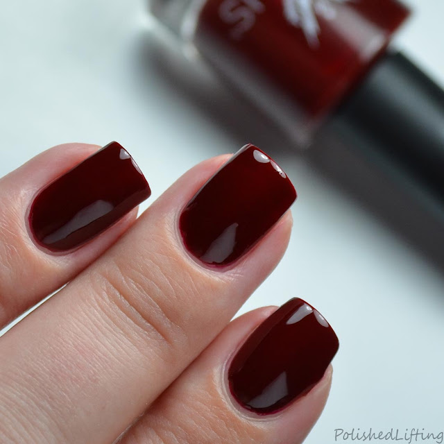 oxblood red creme nail polish