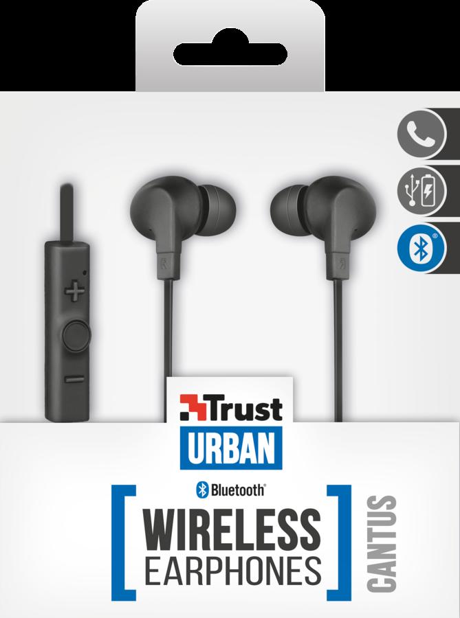 TRUST Cuffie in-ear wireless Bluetooth per smartphone e tablet 21844 ... 2f3fb790ac55