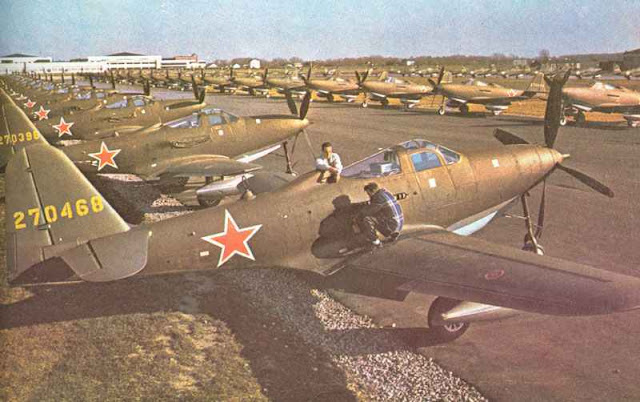 Soviet P-63 Kingcobra Planes in color worldwartwo.filminspector.com