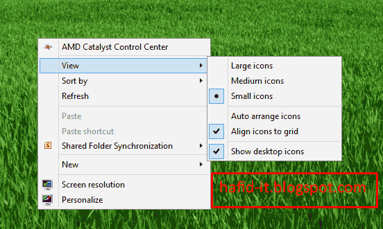 Cara menampilkan icon desktop yang hilang
