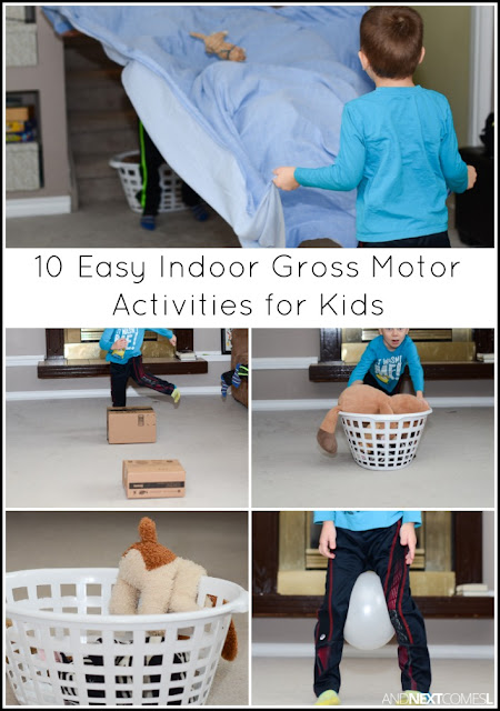 10 easy indoor gross motor activities for kids and next for Indoor gross motor activities