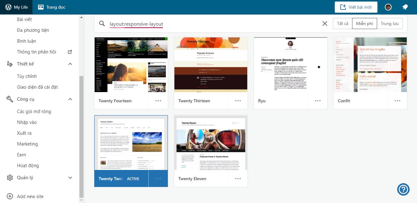 WordPress.Com miễn phí blog với nhiều giao diện và tích hợp AMP