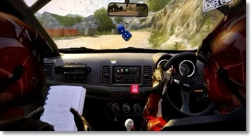 遊戲內畫面,車輛內的視點