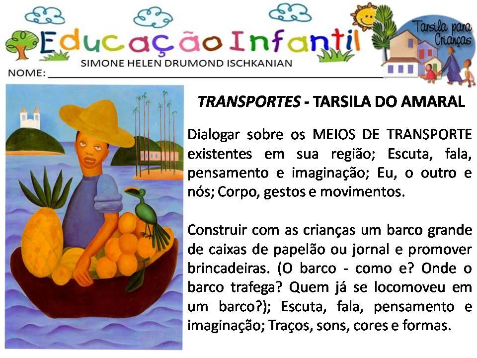 Atividades Escolares Tarsila Do Amaral Para Criancas Nova Bncc