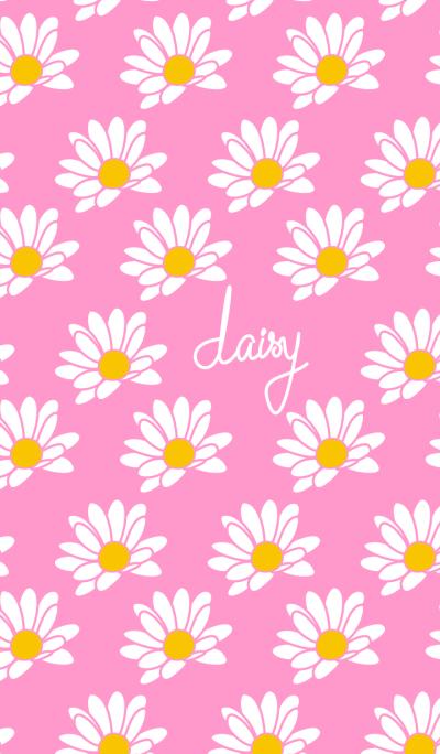 daisy pattern (pink)