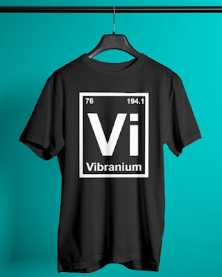 Periodic Element Vibranium Metal Graphic T Shirt
