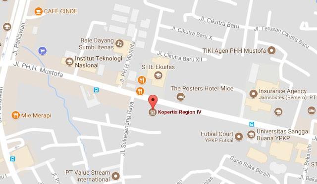 lokasi kampus swasta di kota Bandung
