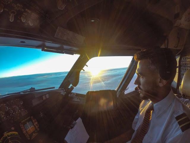 La gente no sabe si estas fotos fuera del avión son reales