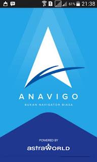 anavigo aplikasi pemandu perjalanan pengemudia
