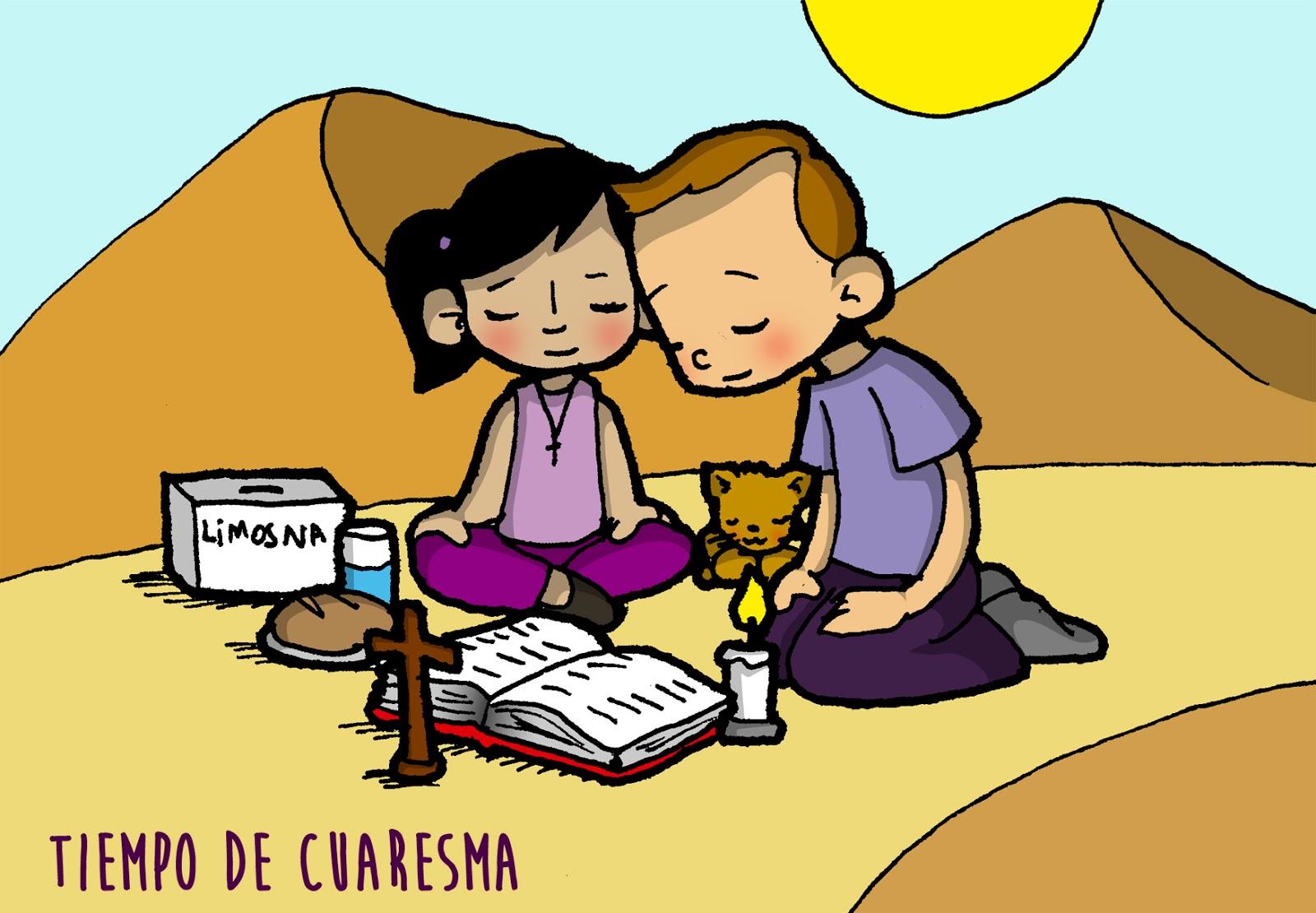 Dibujos para catequesis: TIEMPO DE CUARESMA